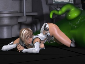 3d elf fucked by a tentacle of alien